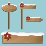 Sinais de madeira do Natal Imagem de Stock Royalty Free