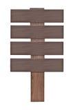 Sinais de madeira isolados no branco. imagens de stock