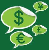 Sinais de moeda Imagens de Stock Royalty Free