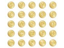 Sinais de moeda Imagem de Stock Royalty Free