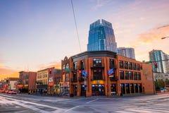 Sinais de néon em mais baixo Broadway Nashville Imagem de Stock Royalty Free