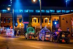 Sinais de néon na rua de Beale Imagens de Stock Royalty Free