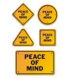 Sinais de paz de espírito Foto de Stock