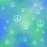 Sinais de paz decorativos com grunge 024 Imagem de Stock
