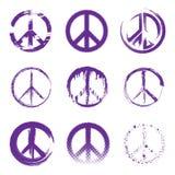 Sinais de paz do Grunge Fotos de Stock Royalty Free