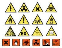 Sinais de perigo químicos ilustração do vetor