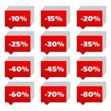 Sinais de porcentagem Foto de Stock Royalty Free