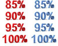 Sinais de porcentagem Imagem de Stock Royalty Free