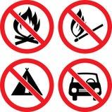 Sinais de proibição do vetor ilustração royalty free