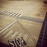 Sinais de rua do aeroporto foto de stock