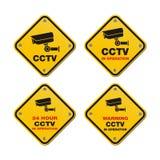 Sinais de rua do CCTV Fotografia de Stock Royalty Free