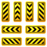 Sinais de rua 07 do perigo e do cuidado Fotos de Stock Royalty Free