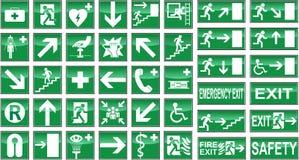 Sinais de saúde e de segurança ilustração stock