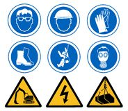 Sinais de saúde e de segurança Foto de Stock Royalty Free
