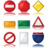 Sinais de tráfego Fotografia de Stock