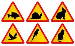 Sinais de tráfego animais Fotografia de Stock