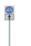 Sinais de tráfego da bicicleta. Imagem de Stock Royalty Free