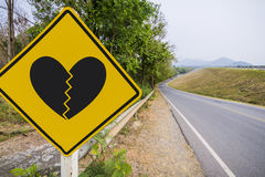 Sinais de tráfego de Lovelorn Fotografia de Stock Royalty Free
