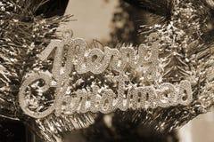 Sinais decorativos das etiquetas do Natal do Natal Foto de Stock