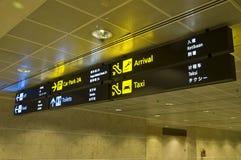Sinais do aeroporto Imagem de Stock