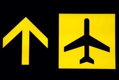 Sinais do aeroporto - partida Foto de Stock Royalty Free