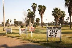 Sinais do campo de golfe Imagem de Stock