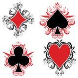 Sinais do cartão Fotos de Stock Royalty Free