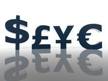 Sinais do dinheiro fotografia de stock