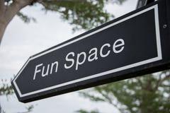 Sinais do espaço do divertimento da palavra Imagens de Stock