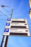 Sinais do estacionamento Foto de Stock Royalty Free