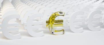 sinais do euro 3D Fotografia de Stock Royalty Free