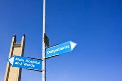 Sinais do hospital Foto de Stock