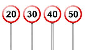 Sinais do limite de velocidade. ilustração do vetor