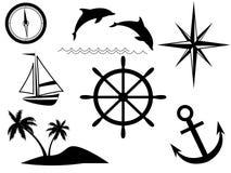 Sinais do mar ilustração stock