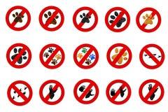 Sinais do símbolo da pata da interdição ilustração royalty free