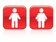 Sinais do toalete ilustração do vetor