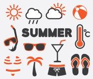 Sinais do verão ilustração do vetor