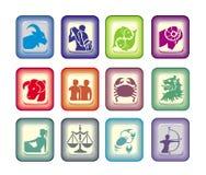 sinais do vetor do zodíaco ilustração royalty free