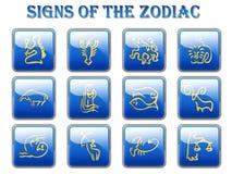 Sinais do zodíaco Foto de Stock Royalty Free
