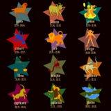 Sinais do zodíaco. ilustração royalty free