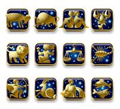 Sinais do zodíaco Fotos de Stock