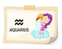 Sinais do zodíaco - Aquarius Fotografia de Stock