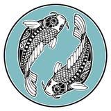 Sinais do zodíaco - Pisces Imagem de Stock Royalty Free