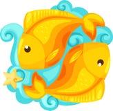 Sinais do zodíaco - Pisces Imagens de Stock