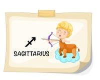 Sinais do zodíaco - Sagittarius Fotografia de Stock