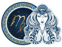 Sinais do zodíaco - Virgo ilustração do vetor