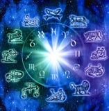 Sinais do zodíaco Fotografia de Stock Royalty Free