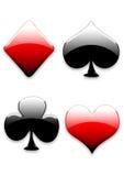 Sinais dos cartões de jogo ilustração do vetor