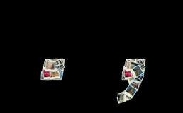 Sinais dos dois pontos e do ponto - colagem das fotos Fotos de Stock Royalty Free