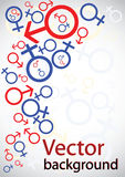 Sinais dos homens e das mulheres ilustração do vetor